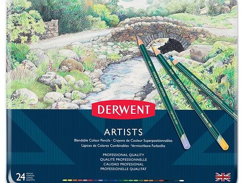 Derwent Artists 24'lü Metal Kutu Seti