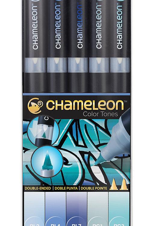 Chameleon Tonlama Kalemi 5'li Mavi Renkler Seti