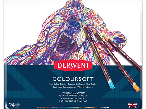 Derwent Coloursoft 24'lü Set Metal Kutu