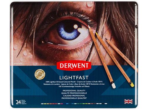 Derwent Lightfast 24'lü Yağlı Kurukalem Seti