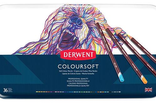 Derwent Coloursoft 36'lı Set Metal Kutu