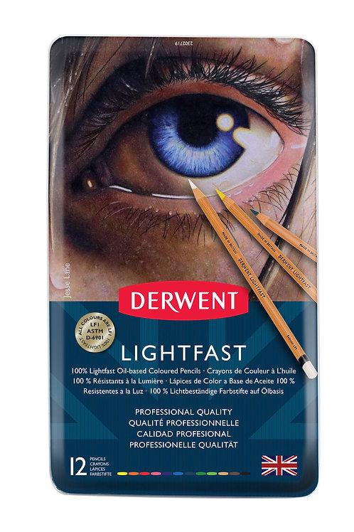 Derwent Lightfast 12'li Yağlı Kurukalem Seti