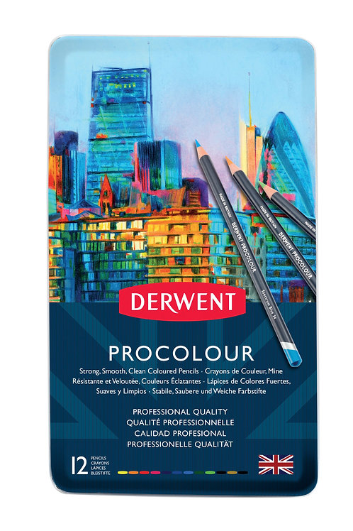 Derwent Procolour 12'li Set Metal Kutu