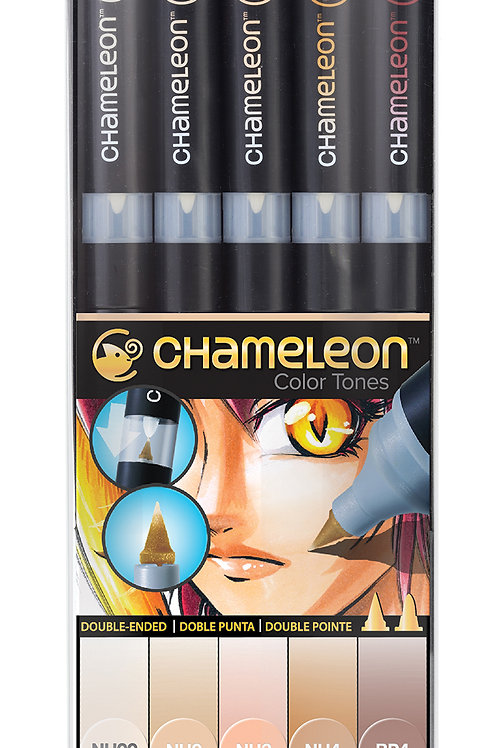 Chameleon Tonlama Kalemi 5'li Ten Renkler Seti