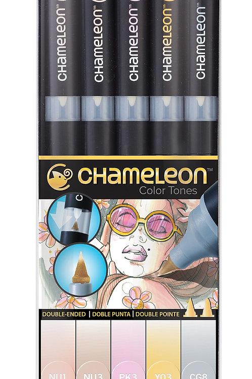 Chameleon Tonlama Kalemi 5'li Pastel Renkler Seti