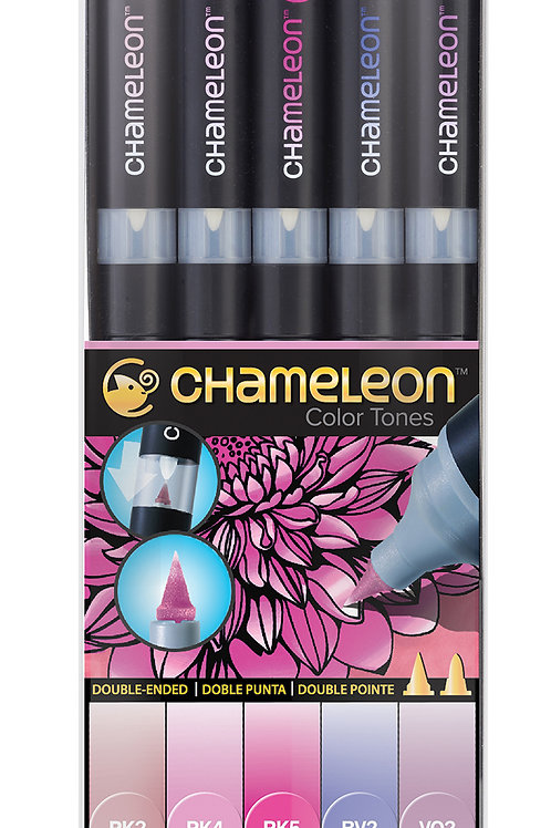 Chameleon Tonlama Kalemi 5'li Floral Renkler Seti