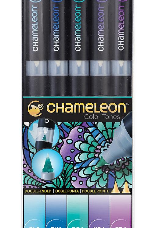 Chameleon Tonlama Kalemi 5'li Soğuk Renkler Seti