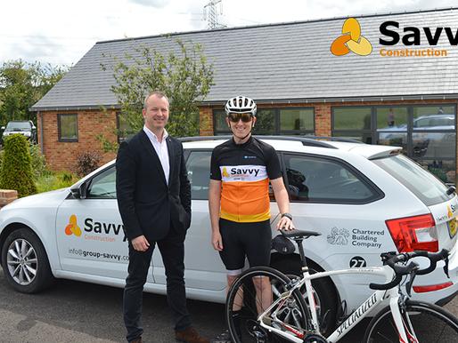 Team Savvy takes on 50m bike ride for Helen & Douglas House