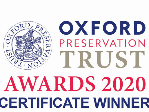 Savvy Group wins Certificate at Oxford Preservation Trust Awards 2020