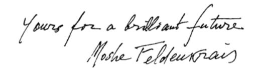 Feldenkrais Toronto West and Moshe Felde