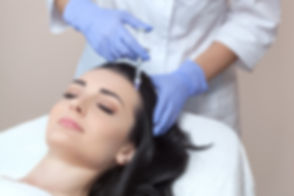Procedure of mesotherapy. The doctor cos