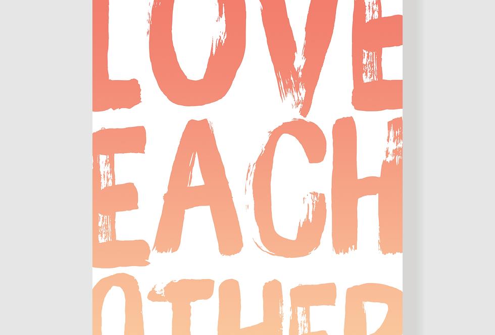 Quadro Love Each Other
