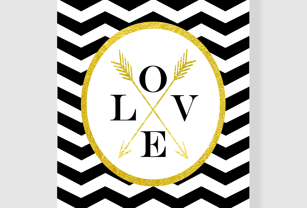Quadro Love Chevron
