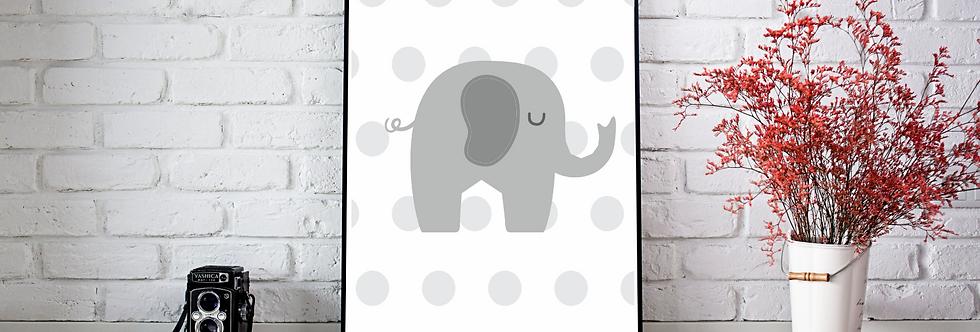 Quadro Elefante Dots