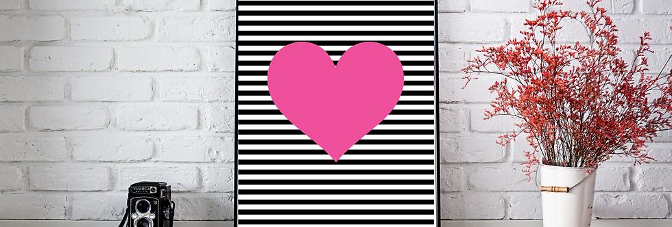 Quadro Strip Heart
