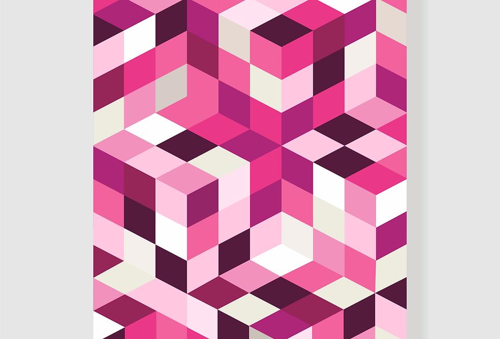 Quadro Pink Geo