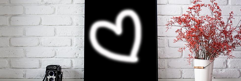 Quadro Heart Neon