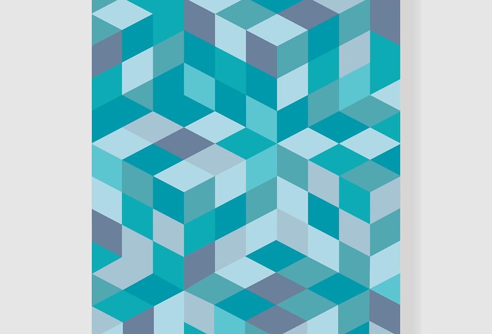 Quadro Turquoise Geo