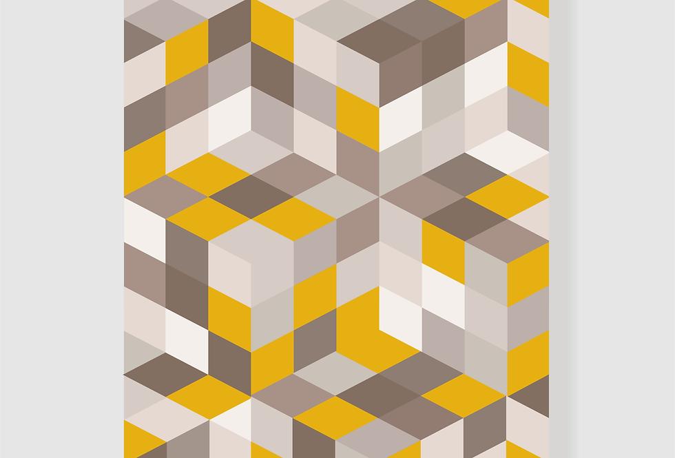 Quadro Yellow Geo