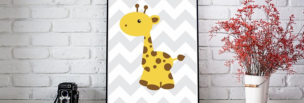 Quadro Girafa Dots