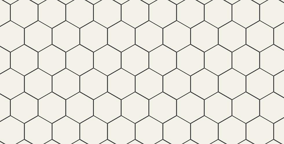 Papel de Parede Adesivo Bee Geometric