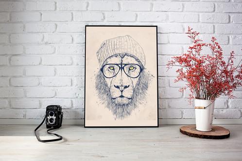 Quadro cool lion