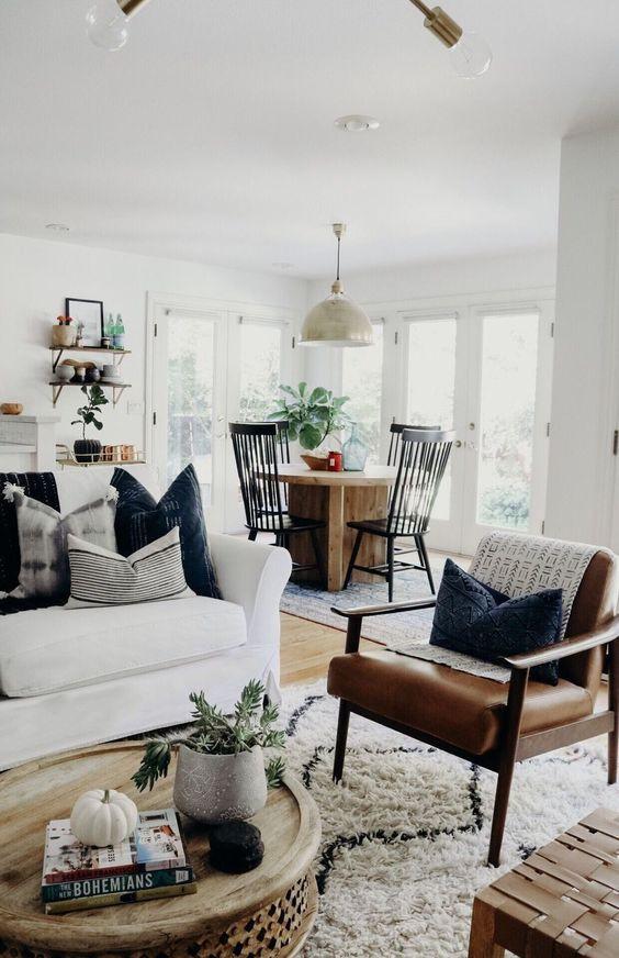 Layering fabrics and furniture