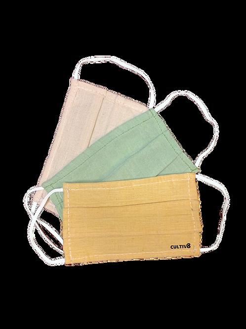 3-Layer Reusable Hemp Cloth Mask