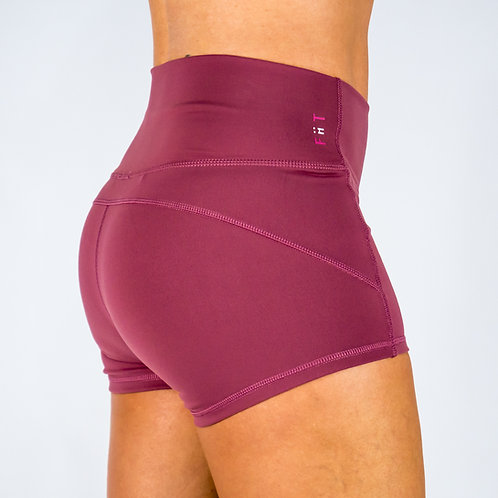 Squat Proof Booty Shorts -Pink