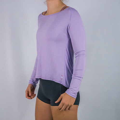 Long Sleeve -Flow Warm Up/Yoga Long Sleeve - LILAC