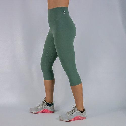 Capri Squat Proof Align Leggings -GREEN