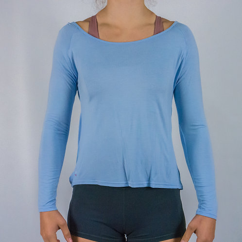 Long Sleeve -Flow Warm Up/Yoga Long Sleeve - BABY BLUE