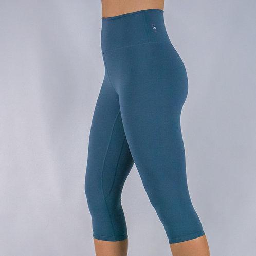 Capri Squat Proof Align Leggings - SLATE BLUE