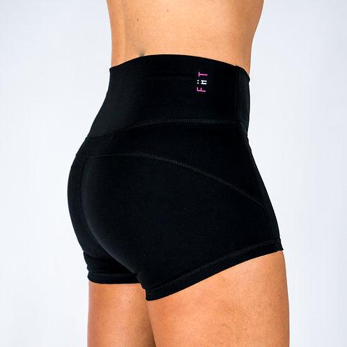 Squat Proof Booty Shorts - Black