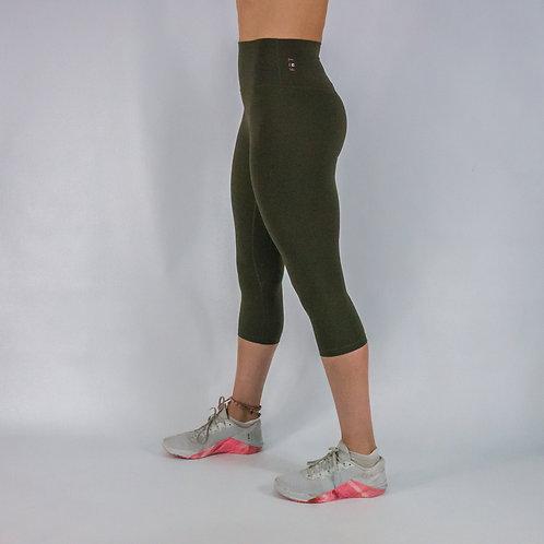 Capri Squat Proof Align Leggings - OLIVE