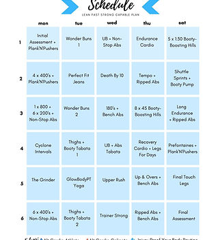 lean fast strong capable plan workout pr