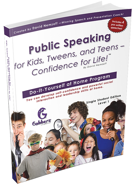 Gabberz Public Speaking for Kids, Tweens, and Teens - Leadership for Youth