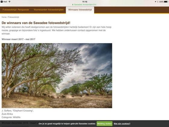 Winnaar Sawadee Fotowedstrijd