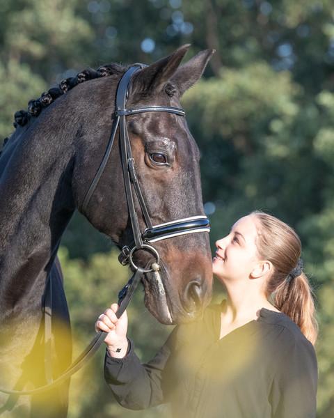 fotoshoot paard en ruiter