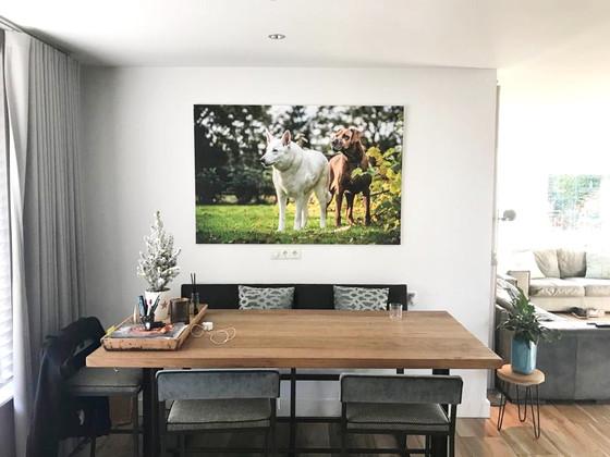 Wall-art van de resultaten van de honden fotoshoot