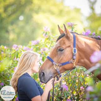 fotoshoot paard en ruiter - rowena en jo
