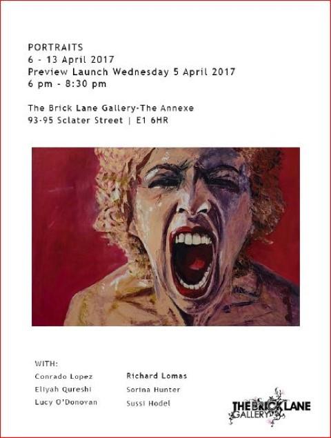 Exhibition flyer for Portraits, April 2017