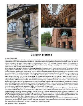 Article by O'Donovan of artistic attractions around her city of residence, Glasgow