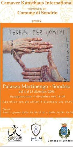 Exhibition flyer for Land of Free Men, December 2006