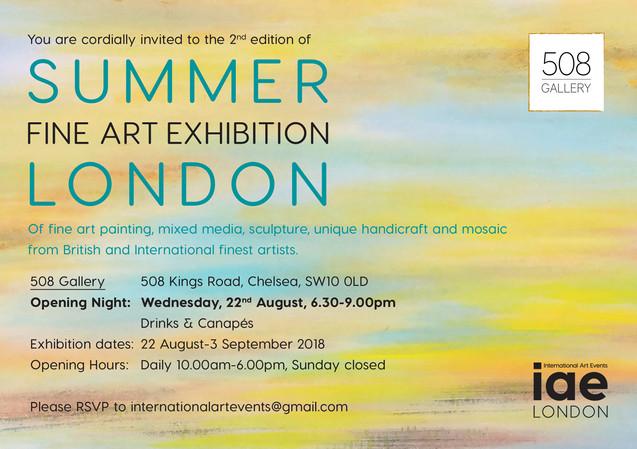 Invitation for Summer Fine Art Exhibition 2018