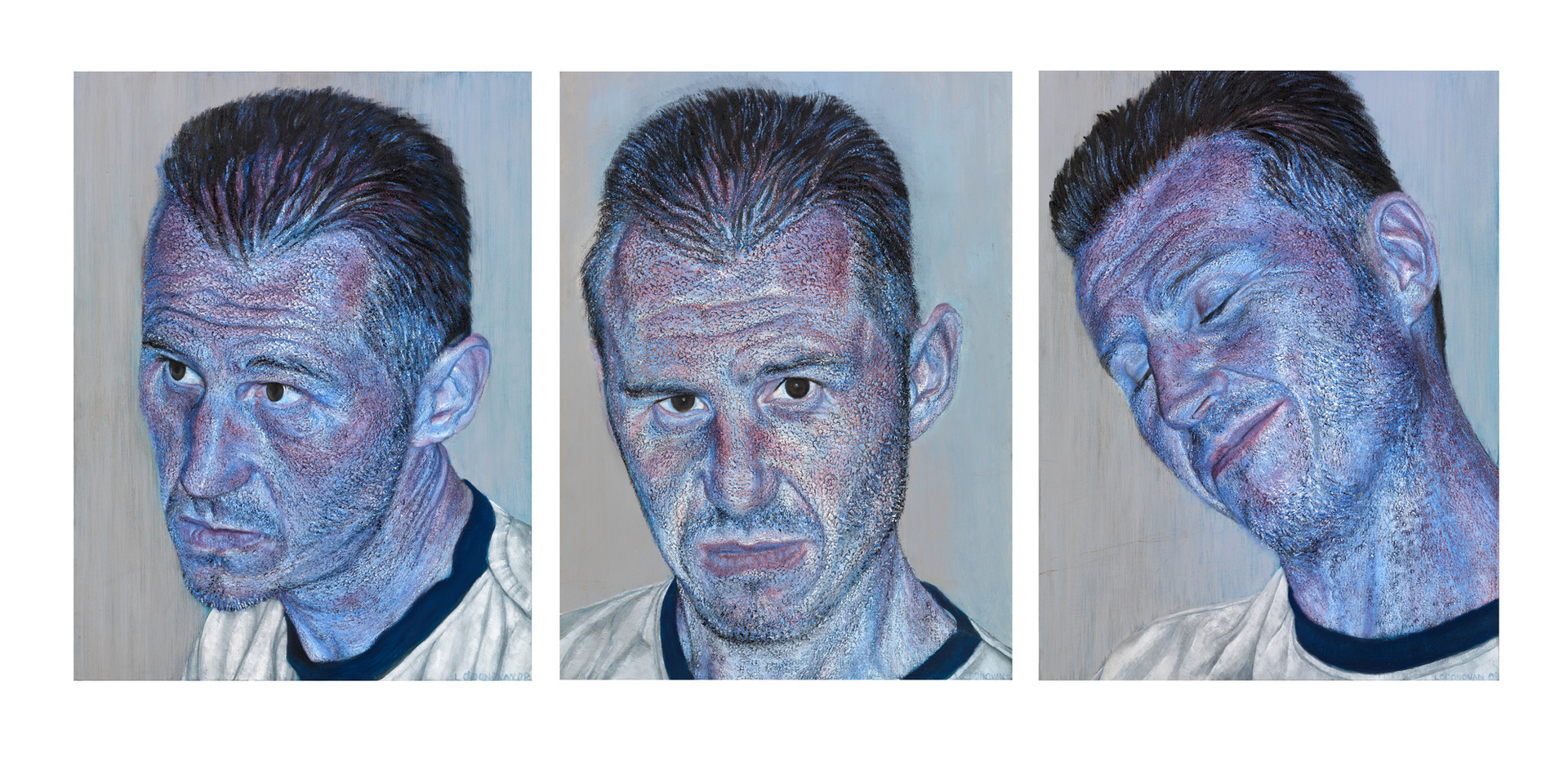 The triptych of Lindsay I did in Melbourne