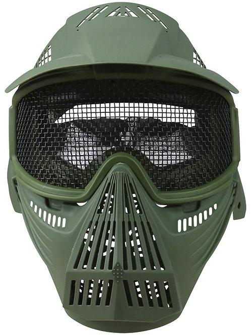 Full Face Mesh Mask - Olive Green