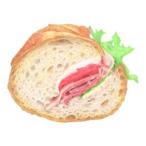 東京エキマチvol.23 「世界のサンドイッチ食べある記」 カスクート ビーフパストラミ断面