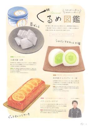 フリーマガジン ぐるり vol.2 2020.10 ぐるめ図鑑「スイーツみやげ」