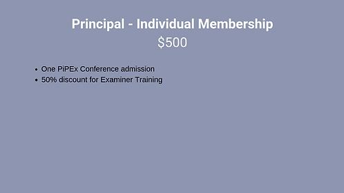 Principal - Individual